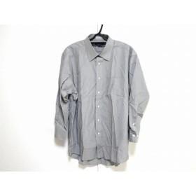【中古】 バーバリーロンドン Burberry LONDON 長袖シャツ サイズL -78 メンズ グレー