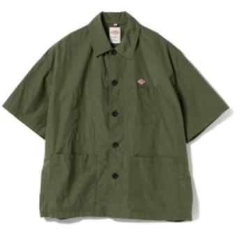 <MEN>DANTON / コットン ショートスリーブシャツ メンズ カジュアルシャツ OLIVE/OD 40