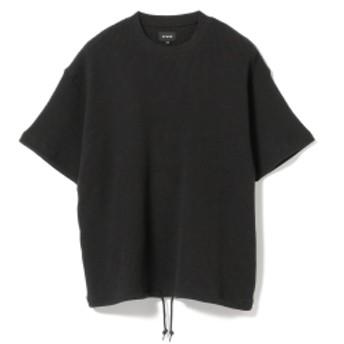 BEAMS / ルーズ サーマル クルーネック メンズ Tシャツ BLACK M