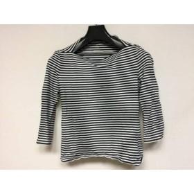 【中古】 ブルーム ストリート ケイトスペード 七分袖Tシャツ レディース 白 黒 ボーダー