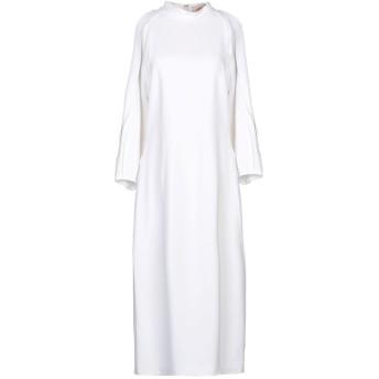《セール開催中》CUSHNIE レディース 7分丈ワンピース・ドレス ホワイト 8 レーヨン 97% / ポリウレタン 3%