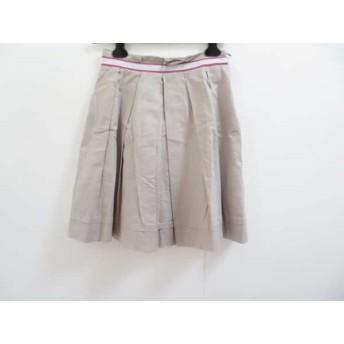 【中古】 ナラカミーチェ NARACAMICIE スカート サイズ0 XS レディース ベージュ 白 ピンク