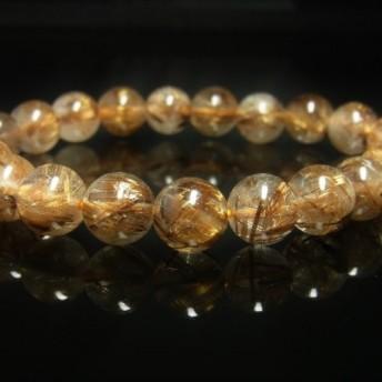 オススメ 現品一点物 タイガータイチンルチル ブレスレット 虎目金針水晶 数珠 10ミリ 36g Ttir8 最強金運数