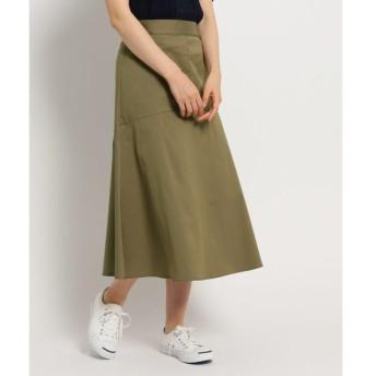 Dessin / デッサン 【洗える】ツイルストレッチミディスカート
