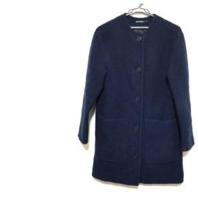【中古】 マリメッコ marimekko コート サイズXS レディース ネイビー