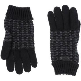 《送料無料》ARMANI COLLEZIONI メンズ 手袋 ブラック M ウール 50% / アクリル 50%