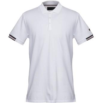 《セール開催中》LES COPAINS メンズ ポロシャツ ホワイト 54 コットン 100%