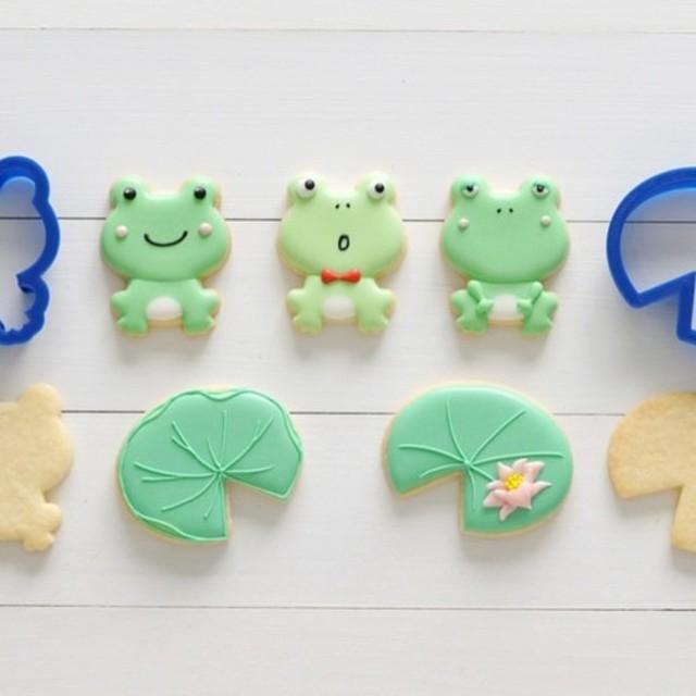 カエル・蓮の葉セットクッキー型・クッキーカッター