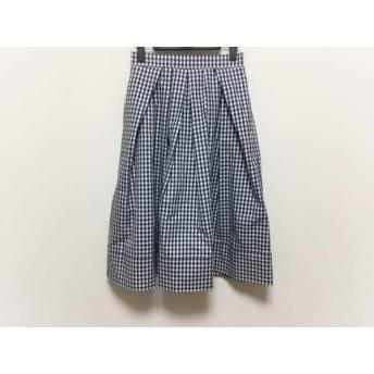 【中古】 ドロシーズ DRWCYS スカート サイズ0 XS レディース 美品 黒 アイボリー チェック柄