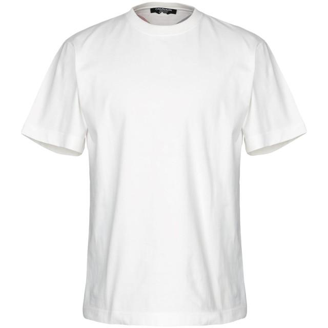 《セール開催中》CALVIN KLEIN 205W39NYC メンズ T シャツ アイボリー M コットン 100%