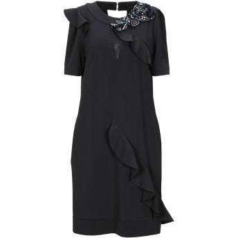 《セール開催中》ANNARITA N TWENTY 4H レディース ミニワンピース&ドレス ブラック 42 ポリエステル 95% / ポリウレタン 5%
