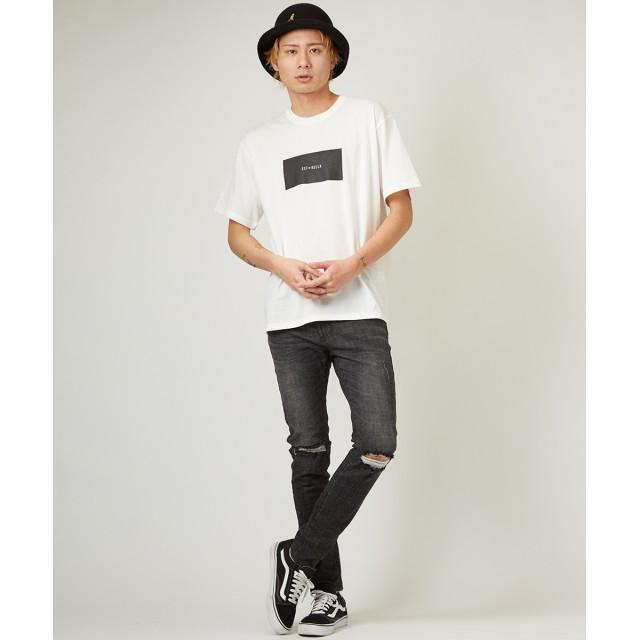 Tシャツ - improves Tシャツ メンズ レディース カットソー 半袖 クルーネック ボックスロゴ プリント トップス ホワイト ブラック 白 黒 きれいめカジュアル ストリート系 ストリートファッション スケーター サーフ系 メンズファッション インプローブス impr