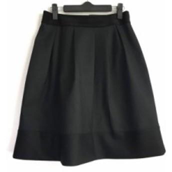 ニジュウサンク 23区 スカート サイズ38 M レディース 黒 千鳥格子【中古】