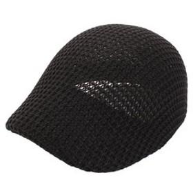 【Super Sports XEBIO & mall店:帽子】畦編み サーモハンチングキャップ 30-1234ブラック