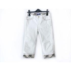 【中古】 バーバリーブルーレーベル パンツ サイズ25 XS レディース 白 ベージュ マルチ チェック柄