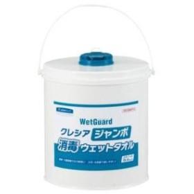 日本製紙クレシア クレシア ジャンボ消毒ウエットタオル 本体 250枚入