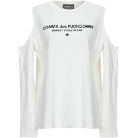 《9/20まで! 限定セール開催中》COMME DES FUCKDOWN レディース T シャツ アイボリー XS コットン 100%