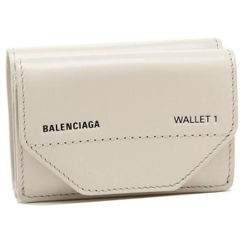 【送料無料】バレンシアガ 財布 BALENCIAGA 529098 0ST2N 1260 ETUI MINI WALLET レディース 三つ折り財布 無地 GRIS CRAIE/L NOIR
