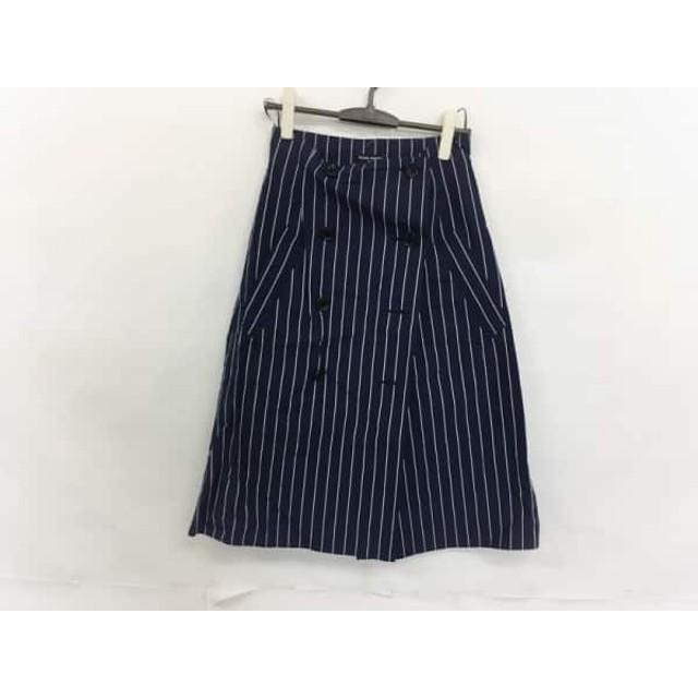 【中古】 オープニングセレモニー 巻きスカート サイズM レディース ネイビー アイボリー ストライプ