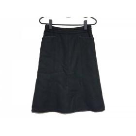【中古】 ニジュウサンク 23区 スカート サイズ36 S レディース 黒 ラメ