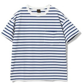 A VONTADE / ボーダーTシャツ メンズ カットソー BLUE×WHITE/19 M