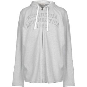 《期間限定セール開催中!》AERONAUTICA MILITARE メンズ スウェットシャツ ライトグレー M コットン 100%