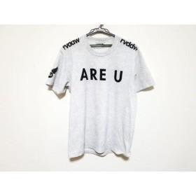 【中古】 リバーサル reversal バッグ 半袖Tシャツ サイズL メンズ ライトグレー 黒