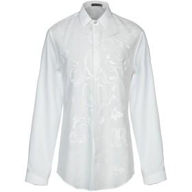 《期間限定セール開催中!》VERSACE メンズ シャツ ホワイト 39 コットン 55% / シルク 45%