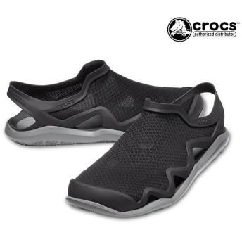 メンズ サンダル crocs クロックス 205701-0DD swift water mesh wave m 水陸両用 GG1 C25