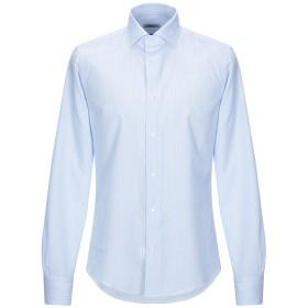 《セール開催中》BRIAMS メンズ シャツ スカイブルー 40 コットン 97% / ポリウレタン 3%