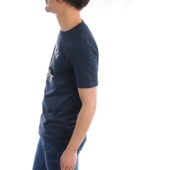 カットソー - ローコス 【半袖Tシャツ メンズ】 半袖Tシャツ メンズ クルーネック ロゴ プリント カレッジ ロゴプリント カレッジプリント 白 黒 紺 春夏 プリントTシャツ メンズTシャツ カレッジTシャツ カットソー トップス インナー お洒落 スリム 細身 カジュアル