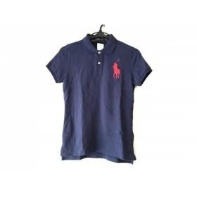 【中古】 ポロラルフローレン 半袖ポロシャツ サイズS レディース ビッグポニー ネイビー