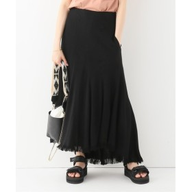 JOURNAL STANDARD L'ESSAGE 【INSCRIRE / アンスクリア】Curvceous Fringe Skirt:スカート ブラック 38
