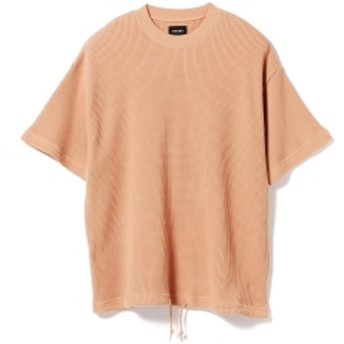 BEAMS / ルーズ サーマル クルーネック メンズ Tシャツ LT. BROWN M