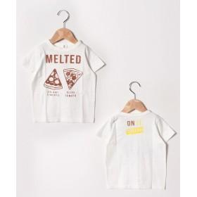 【30%OFF】 アンド ルームス PIZZA Tシャツ レディース オフホワイト 120 【&rooms.】 【セール開催中】