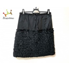 ドゥロワー Drawer スカート サイズ36 S レディース 美品 黒 フリル/ウエストゴム   スペシャル特価 20190626