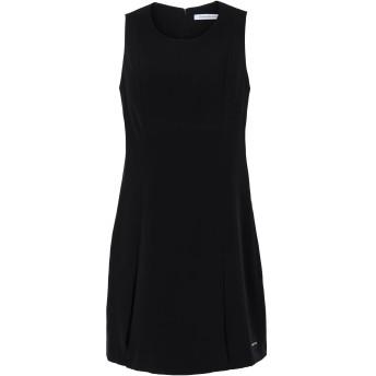 《セール開催中》CALVIN KLEIN JEANS レディース ミニワンピース&ドレス ブラック S ポリエステル 100%