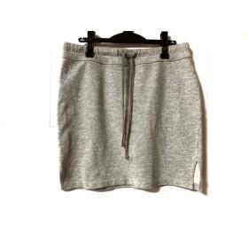 【中古】 ジェームスパース JAMES PERSE ミニスカート サイズ3 L レディース グレー STANDARD/スェット地