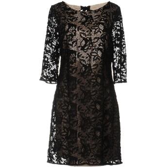 《セール開催中》INTROPIA レディース ミニワンピース&ドレス ブラック 40 ナイロン 100%