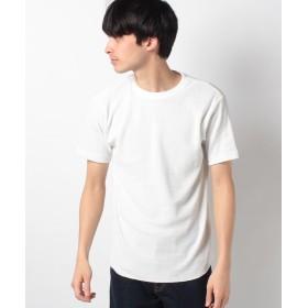 【47%OFF】 イッカ ワッフルクルーネックTシャツ メンズ ホワイト LL 【ikka】 【セール開催中】