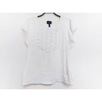 【中古】 ランバンコレクション LANVIN COLLECTION 半袖カットソー サイズ40 M レディース 白 フリル