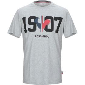 《セール開催中》ROSSIGNOL メンズ T シャツ グレー M コットン 100%