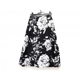 【中古】 ティービー/センソユニコ t.b スカート サイズ40 M レディース 白 黒