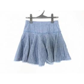 【中古】 マークバイマークジェイコブス スカート サイズ2 S レディース M4002728 ブルー