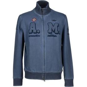 《期間限定 セール開催中》AERONAUTICA MILITARE メンズ スウェットシャツ ブルーグレー S コットン 92% / ポリウレタン 8%