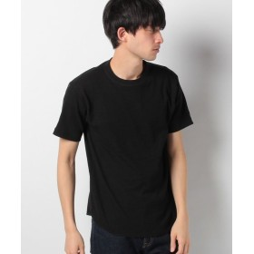 【51%OFF】 イッカ ワッフルクルーネックTシャツ メンズ ブラック S 【ikka】 【タイムセール開催中】