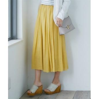 【新色追加♪】ふわり軽い楊柳ロングスカート(ウエスト改良2019ver.) (ロング丈・マキシ丈スカート),skirt
