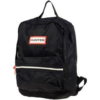 《期間限定セール開催中!》HUNTER Unisex バックパック&ヒップバッグ ブラック ナイロン 100%