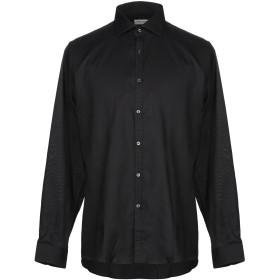 《期間限定セール開催中!》HARRY BROOK メンズ シャツ ブラック 43 コットン 100%