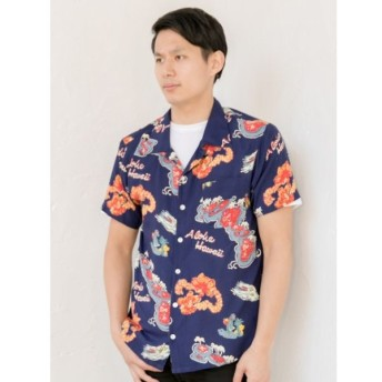 [マルイ] 【Kahiko】ハワイアンプリントMEN'Sアロハシャツ/チャイハネ(CAYHANE)